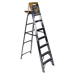 Werner Step Ladder- Stp Ldr Alum 8' 250# From Werner (Part Number 368)