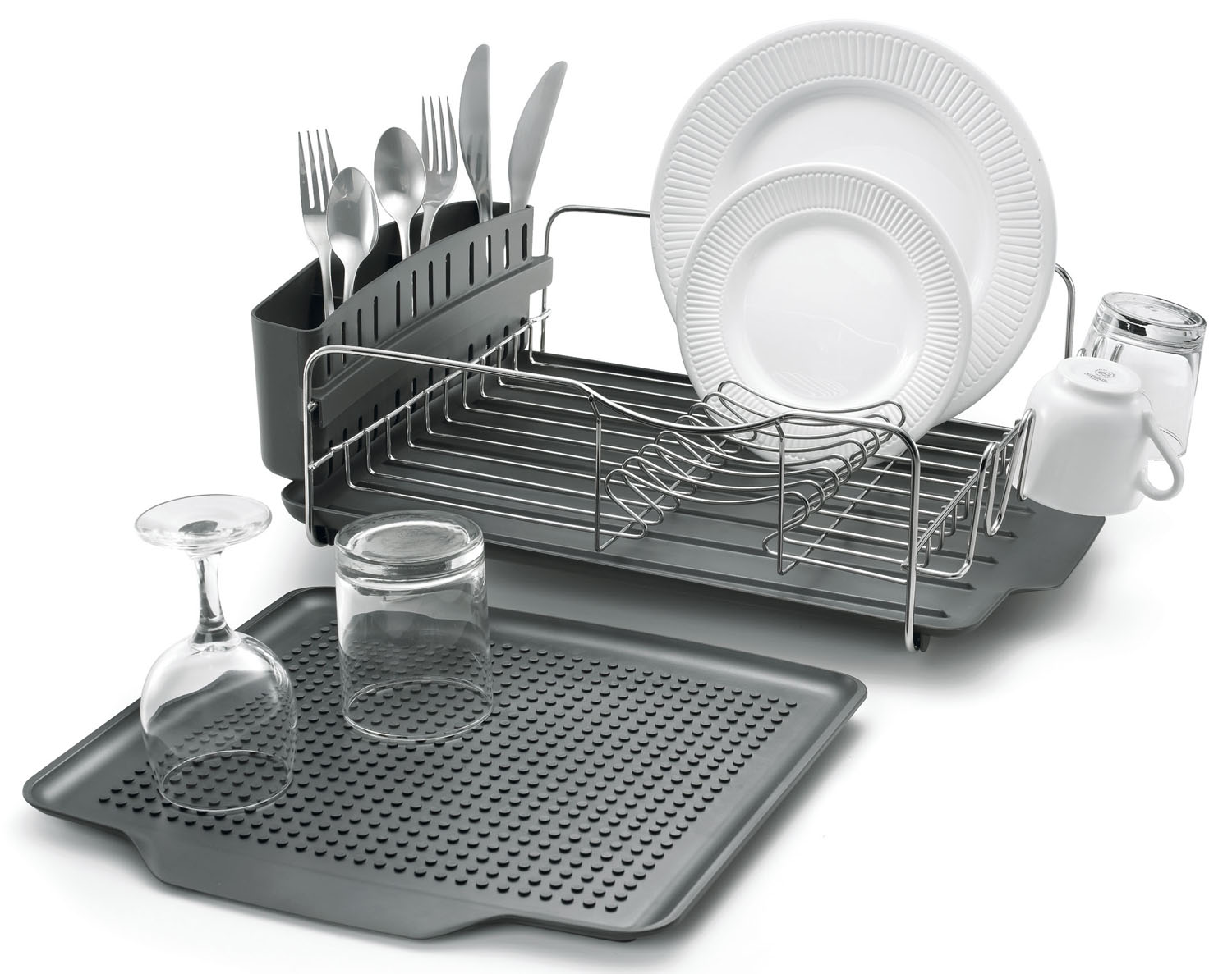 Polder Dish Rack- Dish Rack W/O Mat From Polder (Part Number KTH-615)