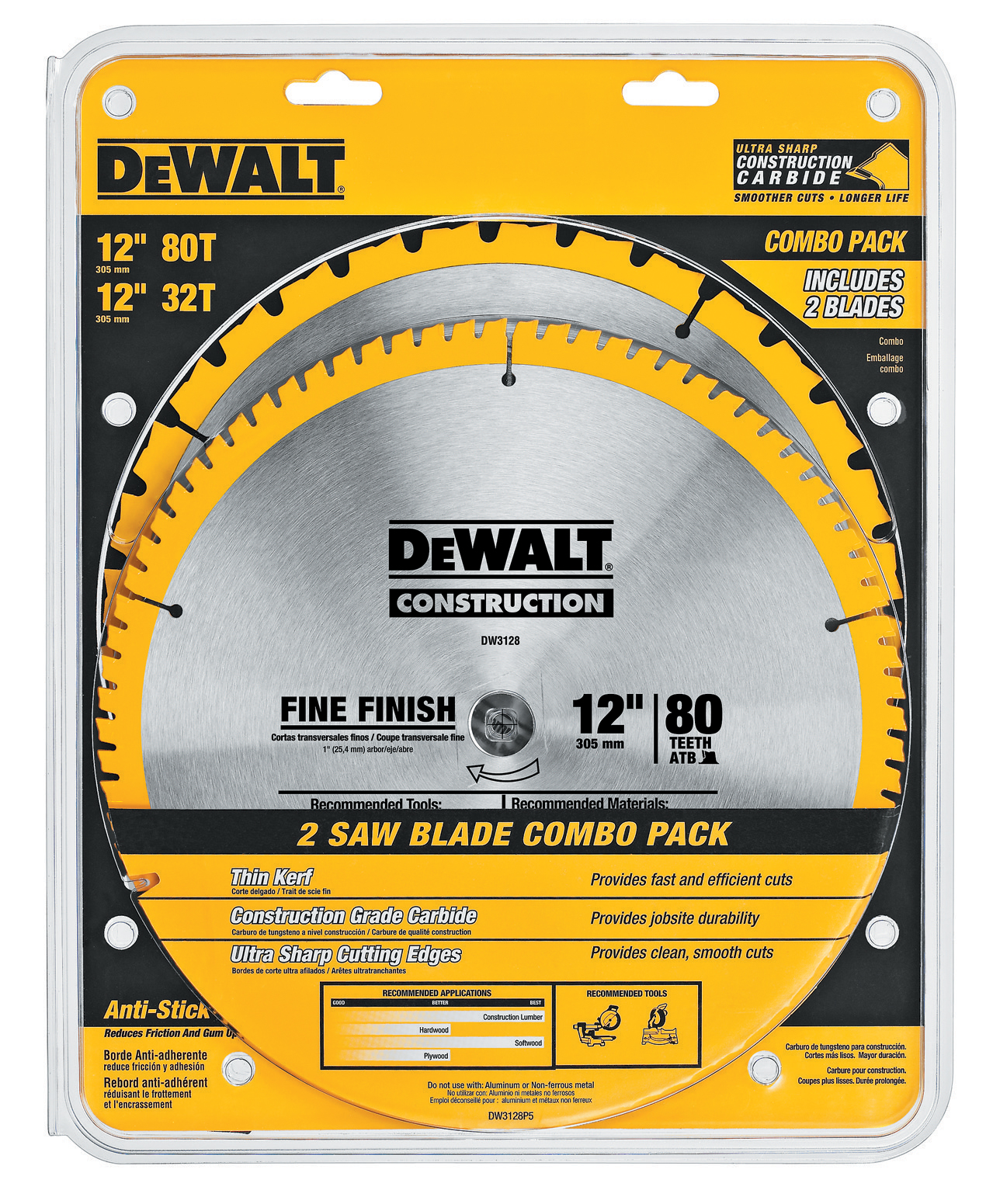 """Dewalt Accessories DW3128P5 12"""" Saw Blade Combo Pack at Sears.com"""
