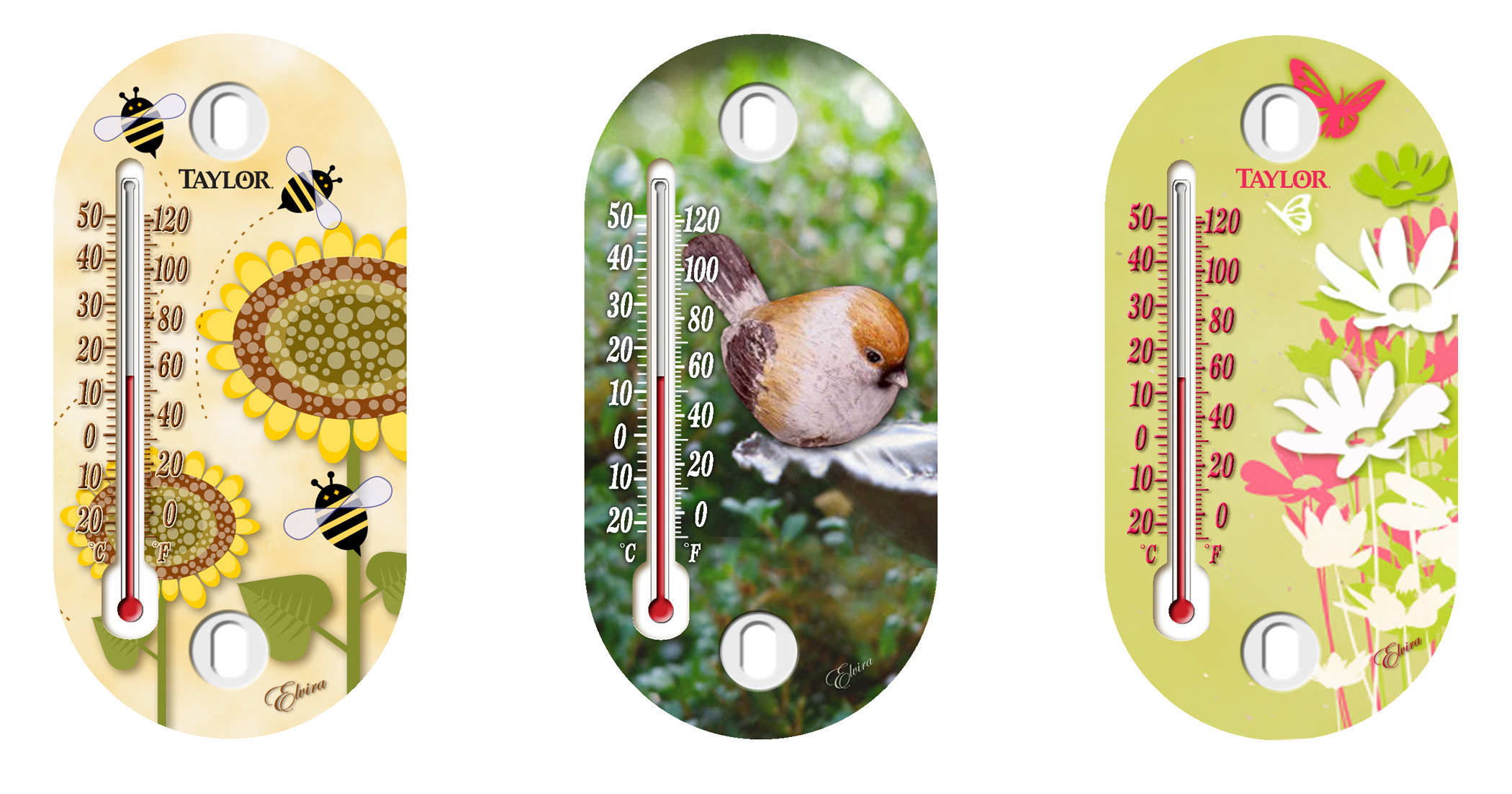 """Taylor Precision 5091 4"""" Assorted Design Suction Cup Thermometer at Sears.com"""