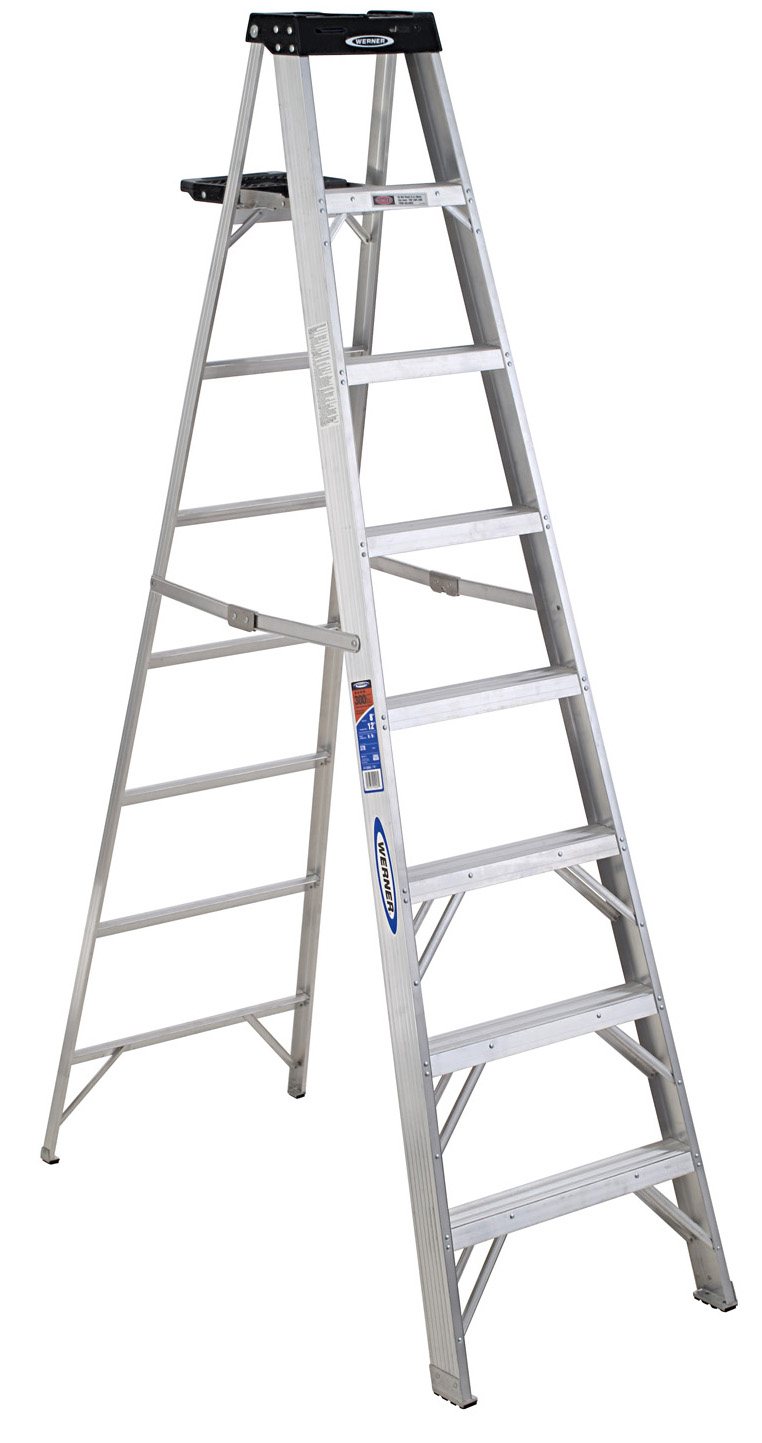 Werner Step Ladder- Stp Ldr Alum 8' 300# From Werner (Part Number 378)
